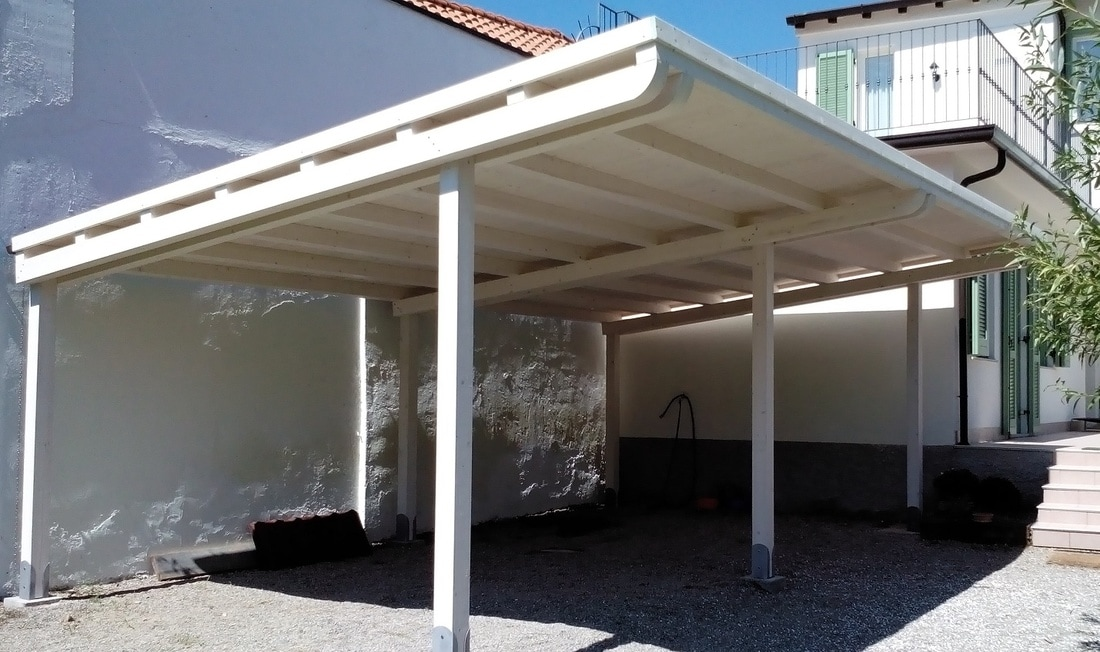 Box e tettoie in legno per auto - Archi per giardino ...