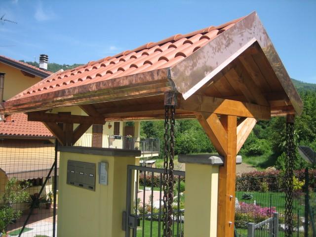 Tettoie in legno falda singola e doppia artecasaservice - Tettoia giardino ...