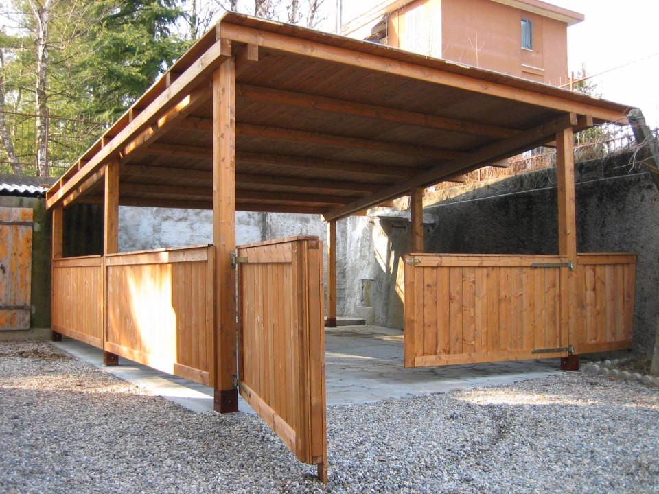 Box e tettoie in legno per auto artigiani della brianza soluzioni e - Tettoie in legno ...