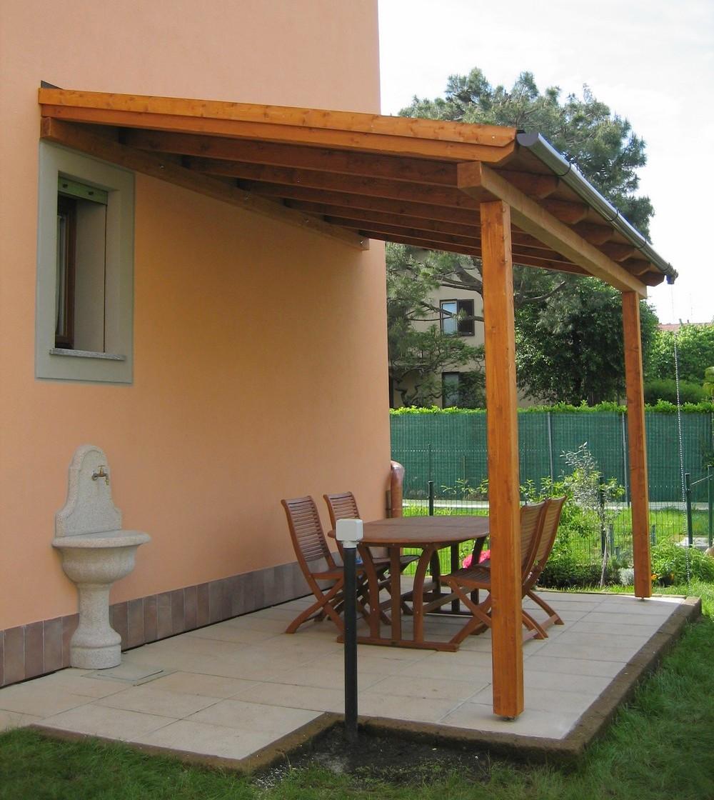 Dimensionamento Pergolato In Legno tettoie in legno falda singola e doppia | artecasaservice.it